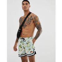 ellesse Ricadi floral print swimshorts in green - Green, szorty