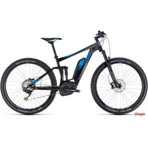 Rower elektryczny stereo hybrid 120 exc 500 29 black/blue 2018 marki Cube