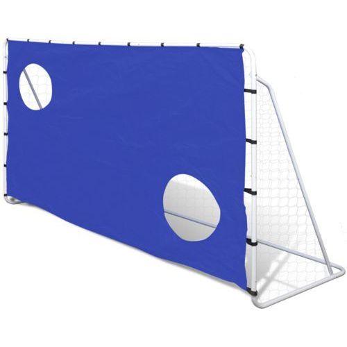 vidaXL Stalowa bramka do piłki nożej z panelem celowania 240 x 92 150 cm (8718475876366)