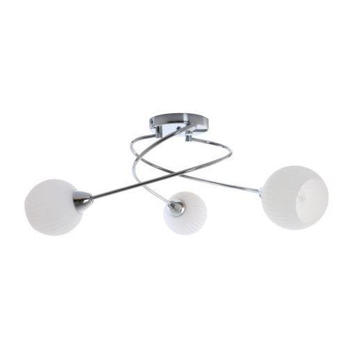 Lampa oprawa wisząca pavia 3x60w e27 chrom/biały 8270328 marki Spot light
