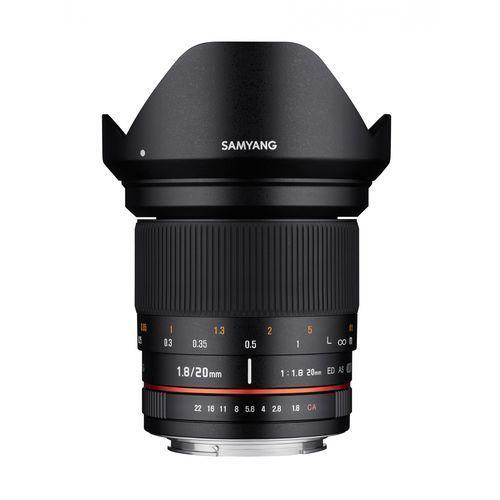 Obiektyw Samyang 20mm F1,8 Sony E (F1113506101) Darmowy odbiór w 21 miastach!, F1113506101