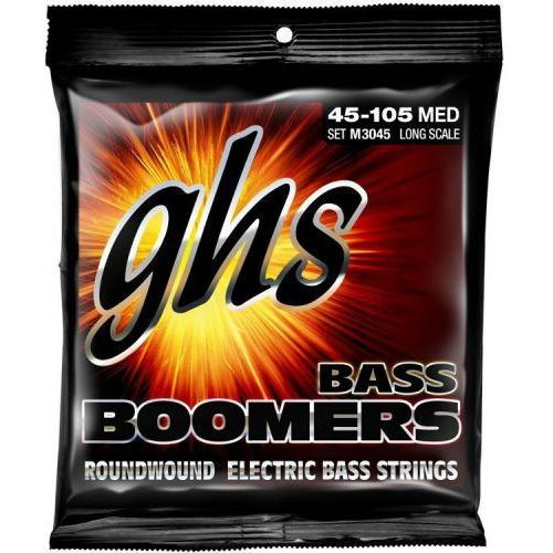 bass boomers struny do gitary basowej 4-str. medium,.045-.105, extra long scale marki Ghs