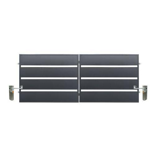 Brama z automatem Polbram Steel Group Leda 4 x 1,58 m ocynk antracyt