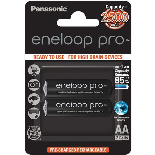 2 x  eneloop pro r6/aa 2550mah bk-3hcde/2be (blister) od producenta Panasonic
