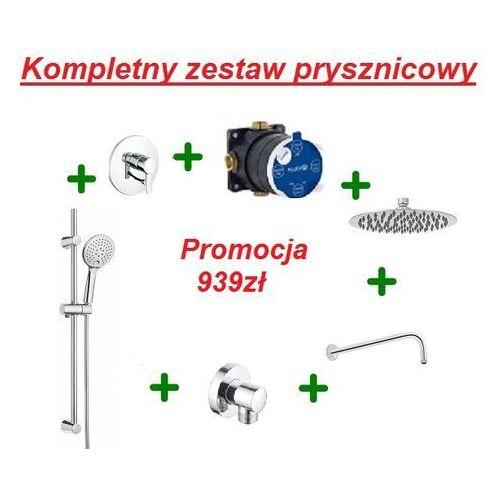 Kludi Zenta kompletny zestaw prysznicowy z drążkiem i deszczownicą OXY 20cm 386500575