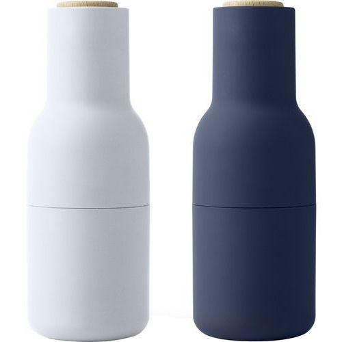 Młynki do soli i pieprzu bottle grinder, classic blue dąb, 2 szt - marki Menu