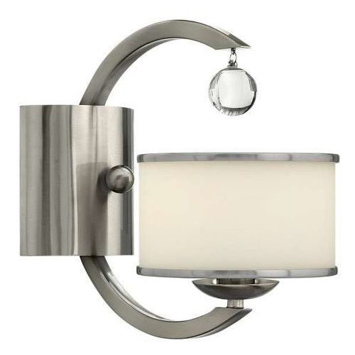 Kinkiet LAMPA ścienna HK/MONACO1 Elstead HINKLEY nowoczesna OPRAWA z kryształkiem crystal nikiel szczotkowany (1000000153149)
