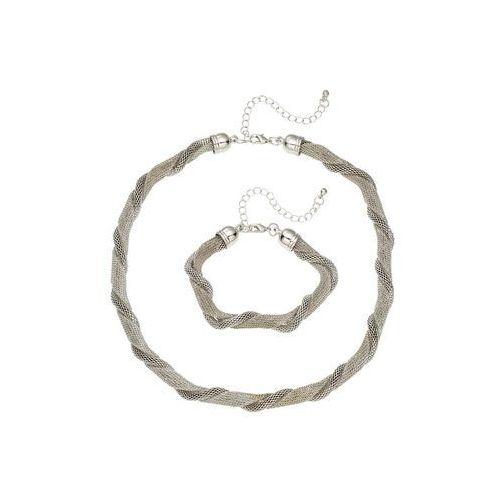 Łańcuszek + bransoletka (2 części) srebrny kolor marki Bonprix
