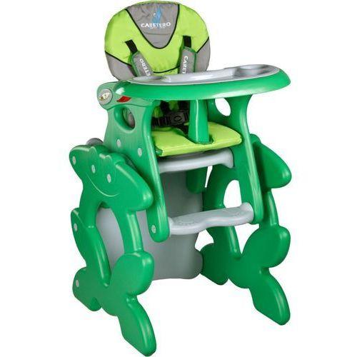 Caretero Krzesło do karmienia  ze stoliczkiem primus zielony + darmowy transport!