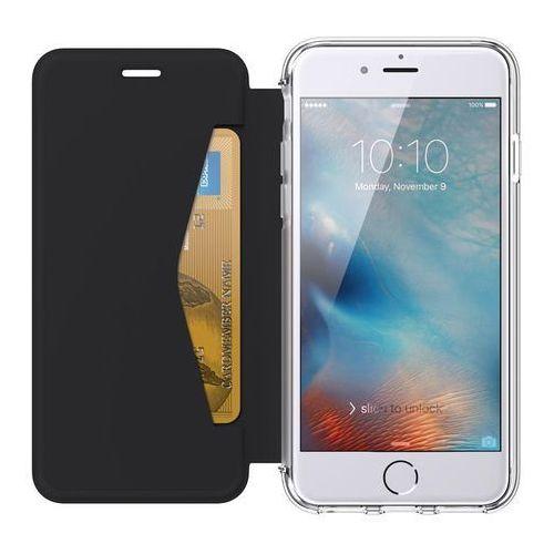 Griffin reveal wallet etui z klapką iphone 8 / 7 / 6s / 6 (czarny/przezroczysty) + kieszeń na kartę