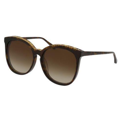 Okulary Słoneczne Stella McCartney SC0074SA Asian Fit 002, kolor żółty