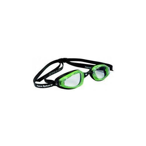 Męskie okulary pływackie Michael Phelps Aqua Sphere K180+ clear Czarne/Zielone