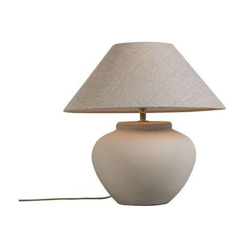 Lampa stolowa Palma XS Concrete z kloszem 40cm lniany, naturalny z kategorii Lampy stołowe