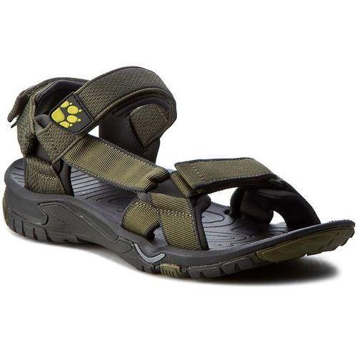 Sandały JACK WOLFSKIN - Lakewood Ride Sandal M 4019021-4088070 Flashing Green, kolor zielony
