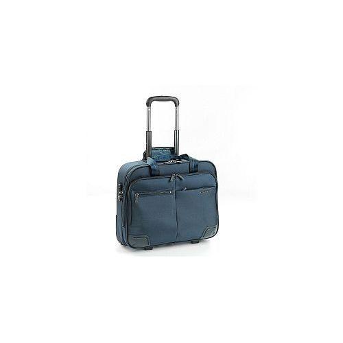 Roncato Pilotka biznesowa z kieszenią na laptopa do 15,6' i ubranie, 2 kółka, zamek szyfrowy tsa, nylon, marki kolekcja wall street - kolor granatowy