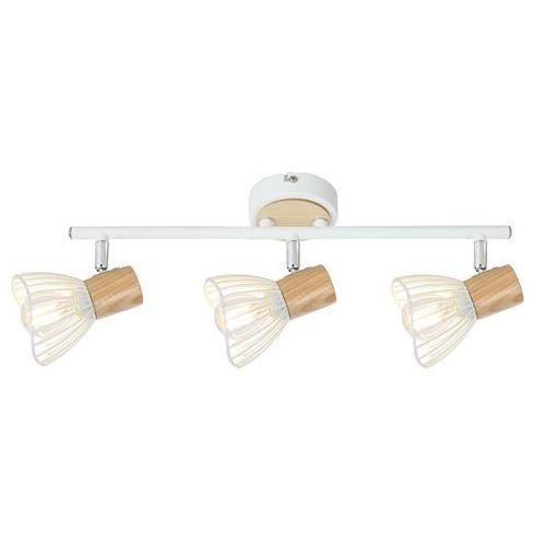 CANDELLUX CHILE 93-61638 Lampa punktowa 3x max25W E14 biały + drewno (5906714861638)