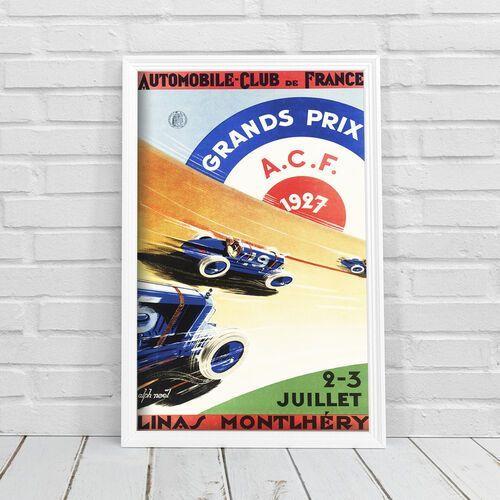 Plakat do pokoju plakat do pokoju automobile grand prix france marki Vintageposteria.pl