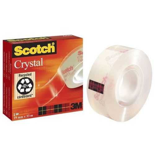 SCOTCH Taśma klejąca CRYSTAL w pudełku 600, 19mmx33m