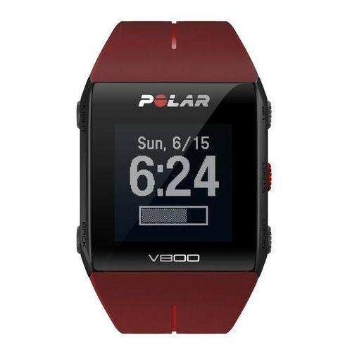 Polar v800 hr - zegarek sportowy z gps (czerwony)