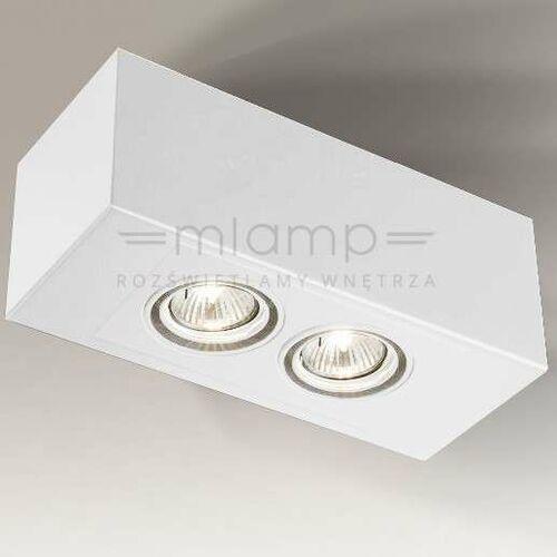 Spot LAMPA sufitowa SETO H 1215/GU10/BI Shilo nastropowa OPRAWA regulowana prostokątna biała (1000000329926)