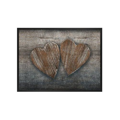 Bonprix Wycieraczka z motywem serc brązowy