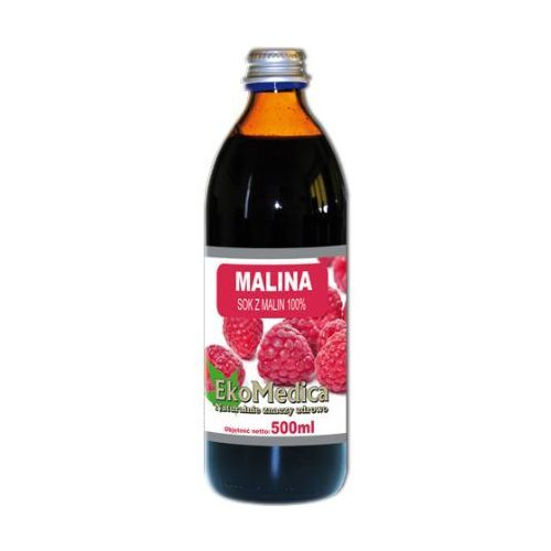 Eka Medica Malina sok z malin 100% 500ml, EKA MEDICA