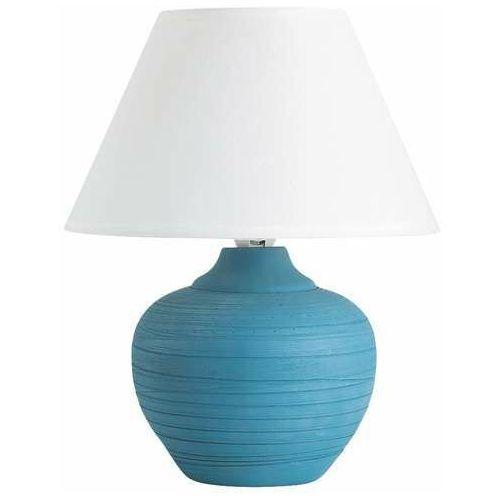 Lampa lampka stołowa Rabalux Molly 1x40W E14 niebieski/biały 4392, 4392