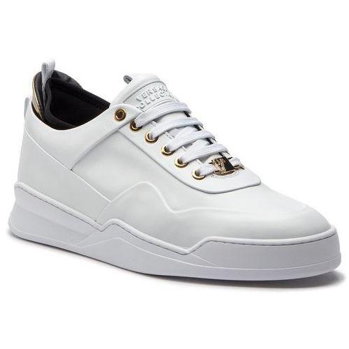 Sneakersy VERSACE COLLECTION - V900727 VM00423 VA19H Bianco/Bianco/Nero/Oro, kolor biały