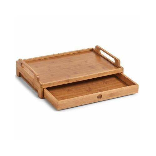 Taca śniadaniowa z szufladką, 100% bambus, marki Zeller