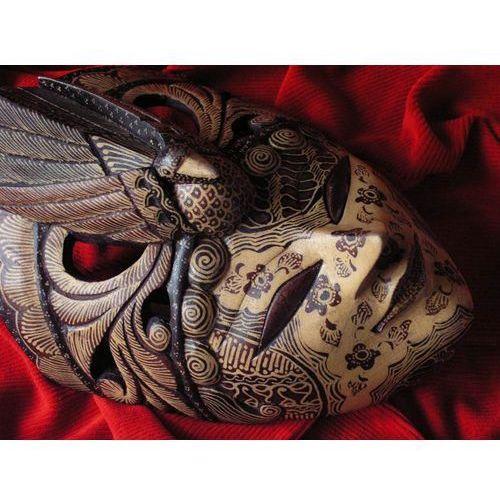 Dekoracyjny Prezent RZEŹBA Egzotyczna Maska NIEŚMIERTELNOŚCI