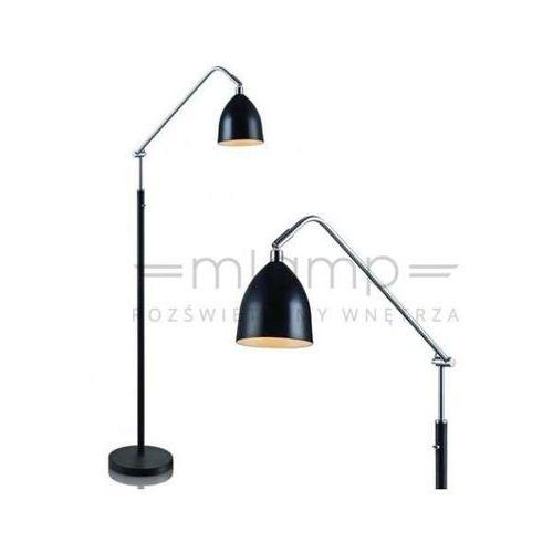 Lampa podłogowa fredrikshamn 105023 stojąca oprawa metalowa czarna marki Markslojd