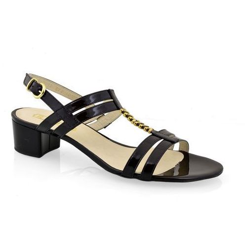 Sandały Ravini 1509 L. czarny+ozd, kolor czarny
