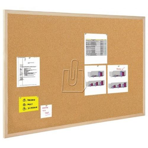 Tablica korkowa BI-OFFICE rama drew. 100x50cm