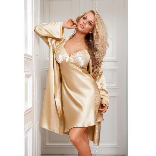 Koszulka Nocna Model Parisa Beige/Cream