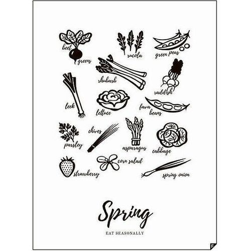 Plakat Spring - Eat Seasonally 30 x 40 cm, SPRING-3040