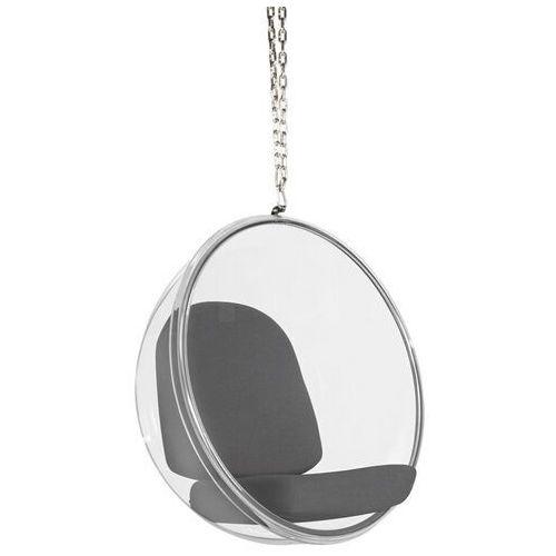 Fotel wiszący bubble poduszka szara - korpus akryl, poduszka wełna marki Sofa.pl