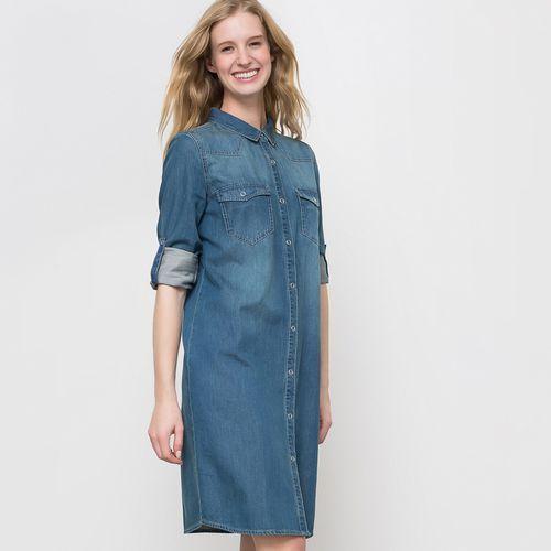 Sukienka dżinsowa, kolor niebieski