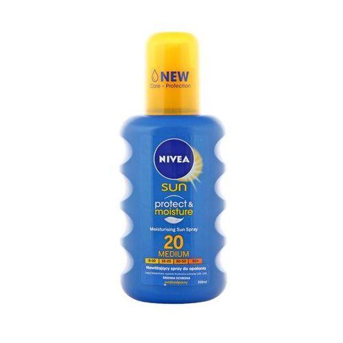 200ml sun protect & moisture nawilżający spray do opalania spf 20 marki Nivea