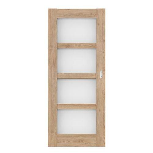 Drzwi pokojowe przesuwne Connemara 80 bezfelcowe dąb skalny (5900378200154)