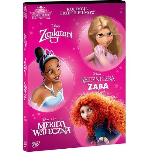Disney Księżniczka. Pakiet (3 DVD) (Zaplątani, Merida Waleczna, Księżniczka i Żaba) (7321916505520)