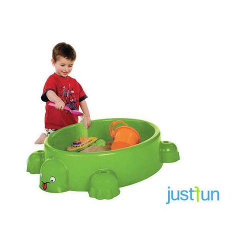 Piaskownica uśmiechnięty żółw z pokrywą marki Just fun