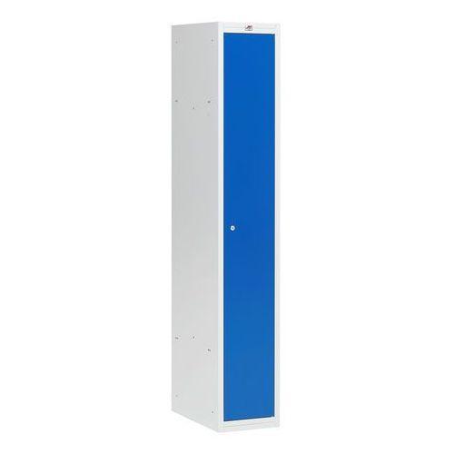 Szafa ubraniowa COACH, 300 mm, 1 drzwi, szary, niebieski