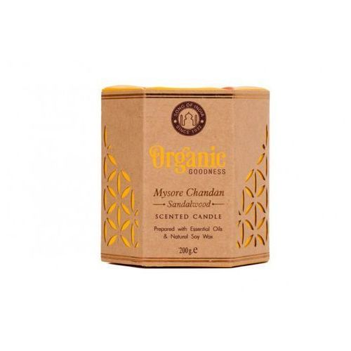 sojowa świeca zapachowa - mysore chandan sandalwood 200g marki Song of india