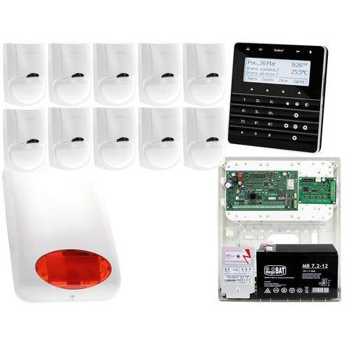 Zestaw alarmowy Satel INTEGRA 128-WRL Manipulator sensoryczny INT-KSG-BSB 10x Czujka LC-100 Sygnalizator zewnetrzny SPL-5010 R Powiadomienie GSM
