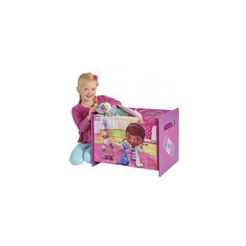 Skrzynia na zabawki drewno+materiał, KLINIKA DLA PLUSZAKÓW