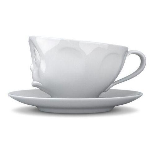 58products - filiżanka do kawy - zadąsana buźka - biała - 0,2 l (4250255858444)