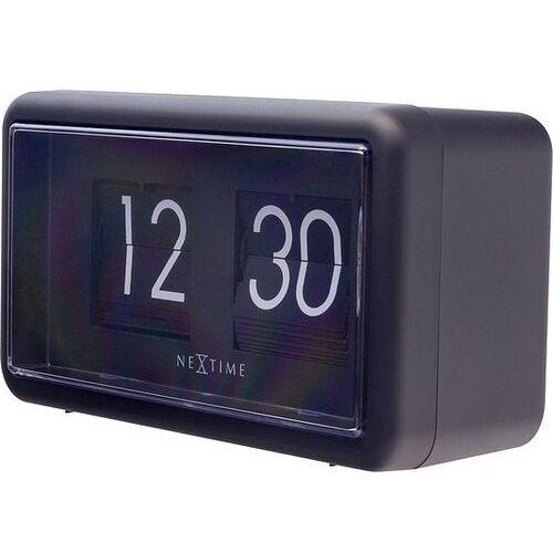 Zegar ścienny lub stołowy small flip czarny marki Nextime