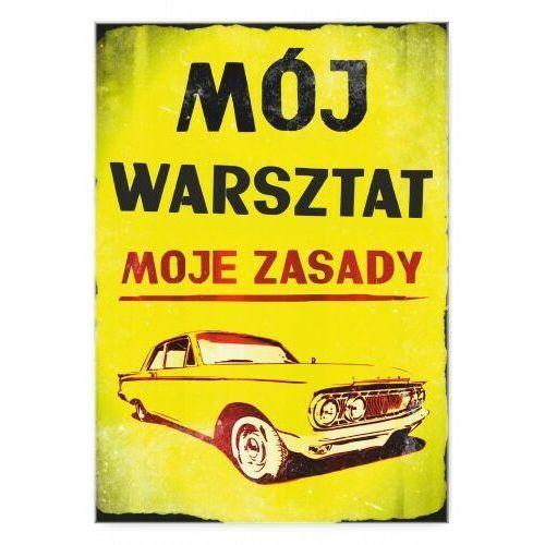 "Plakat metalowy ""Mój warsztat retro"", 5437-50233_20200508211324"
