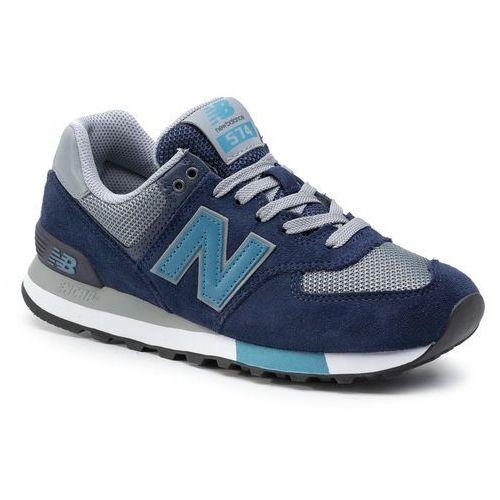 Sneakersy NEW BALANCE - ML574FND Granatowy, kolor niebieski