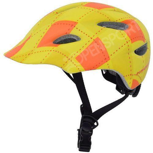 Dziecięcy kask rowerowy infano xs 48-52cm żółty / pomarańczowy marki Kross